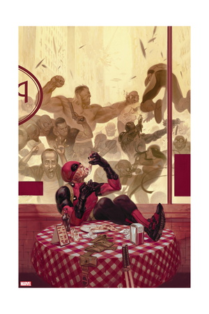 Deadpool superhero comic book poster