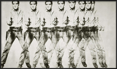 Eight Elvis®, 1963 Framed Giclee Print by Andy Warhol