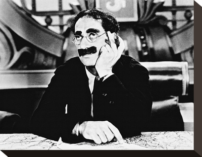 Groucho Marx Stretched Canvas Print