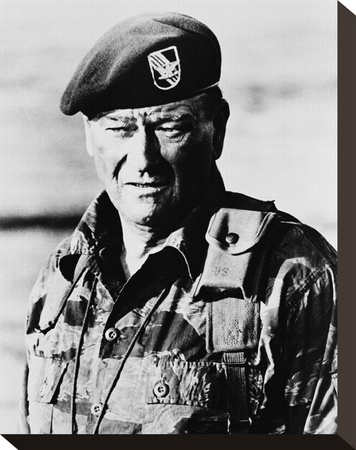 John Wayne, The Green Berets (1968) Stretched Canvas Print