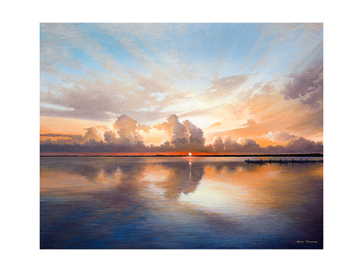 Sunset over Lake Premium Giclee Print by Bruce Nawrocke