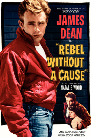 Rebel without a cause James Dean vintage movie poster