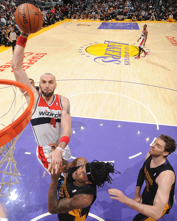 Mar 21, 2014, Washington Wizards vs Los Angeles Lakers - Marcin Gortat Photo by Andrew Bernstein