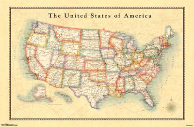 Map – USA 13 Print