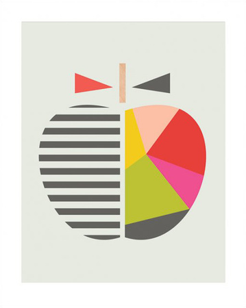 Geometric Apple Arte por  Little Design Haus