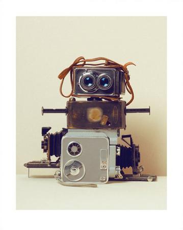 Robot Hair Print by Ian Winstanley