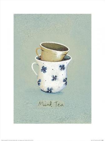 Mint Tea Poster von Nicola Evans