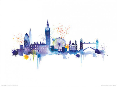 London Skyline Posters by Summer Thornton