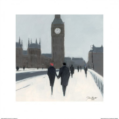 Big Ben, Red Beret and Snow Plakater af Jon Barker