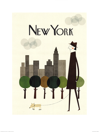 New York Poster by Blanca Gomez