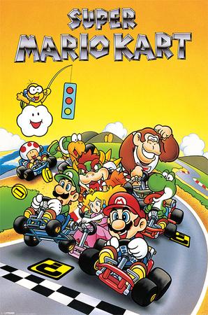 Super Mario - Kart Retro Posters