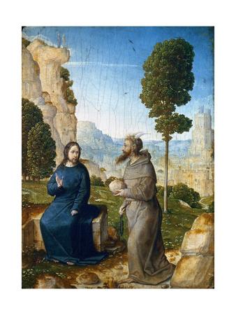 Temptation of Christ Premium Giclee Print by Juan de Flandes