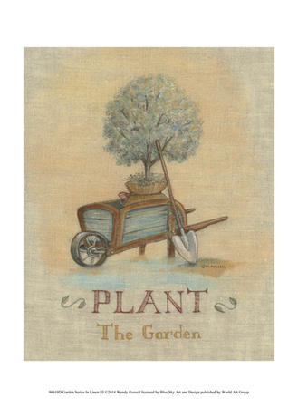Garden Series in Linen III Poster by Wendy Russell