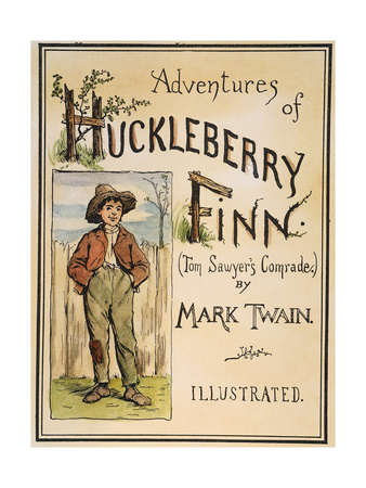 Huckleberry Finn 1885 book cover literature poster for classrooms