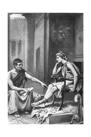 Aristotle (384-322 BC) Giclee Print by Jean Leon Gerome Ferris