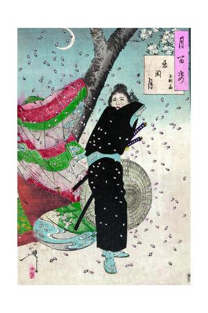 Moon over Shinobugaoka Giclee Print by Tsukioka Kinzaburo Yoshitoshi