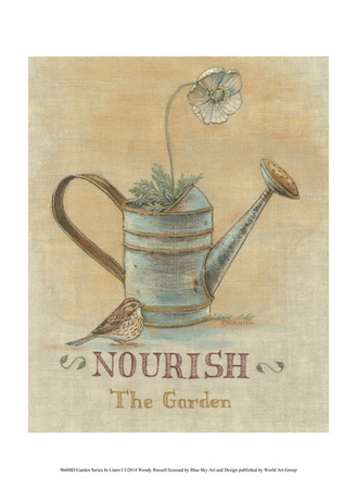 Garden Series in Linen I Posters by Wendy Russell