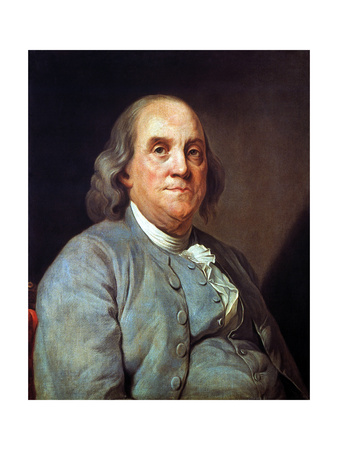 Benjamin Franklin (1706-1790) Premium Giclee Print by Joseph Siffred Duplessis