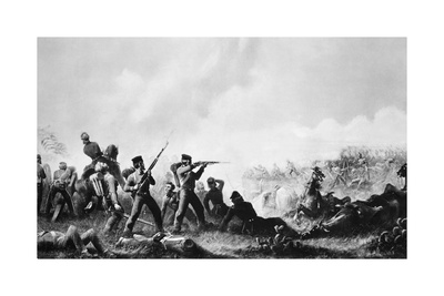 Battle of Buena Vista Giclee Print by James Walker