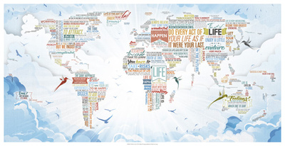 World of Life Giclee Print by  Mikael B. Design