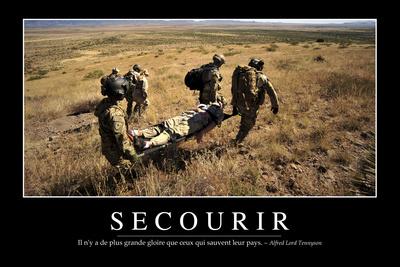 Secourir: Citation Et Affiche D'Inspiration Et Motivation Photographic Print