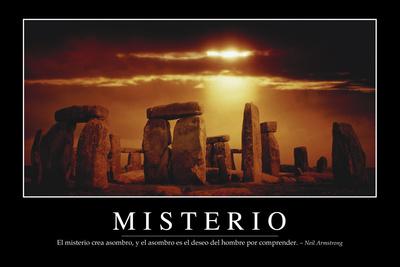 Misterio. Cita Inspiradora Y Póster Motivacional Photographic Print