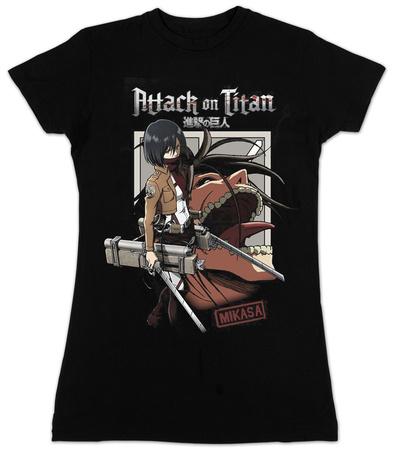 Attack on Titan - Mikasa with Titan, Attack on Titan Junior T-Shirt merchandise
