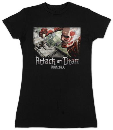 Juniors: Attack On Titan Wall Battle T-Shirt