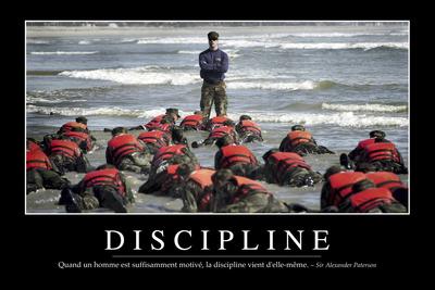 Discipline: Citation Et Affiche D'Inspiration Et Motivation Photographic Print