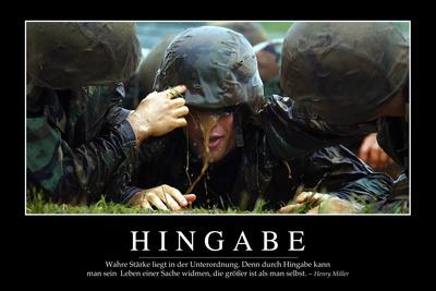 Hingabe: Motivationsposter Mit Inspirierendem Zitat Photographic Print