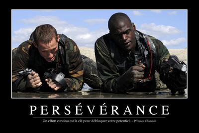 Persévérance: Citation Et Affiche D'Inspiration Et Motivation Photographic Print