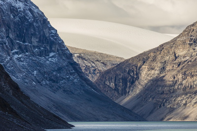 Snow-Capped Peaks and Glaciers in Icy Arm, Baffin Island, Nunavut, Canada, North America Photographic Print by Michael Nolan