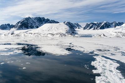 Monaco Glacier, Spitzbergen, Svalbard Islands, Norway, Scandinavia, Europe Photographic Print by Sergio Pitamitz