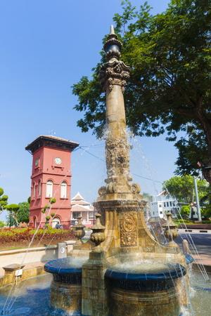 Tan Beng Swee Clocktower and Fountain Photographic Print by Nico Tondini