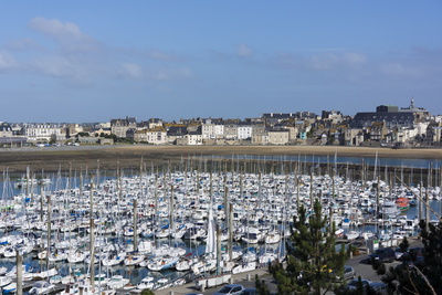 Marina and Main Town, St. Malo, Brittany, France, Europe Photographic Print by Peter Groenendijk