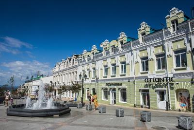 Picturesque Admiral Fokin Street, Vladivostok, Russia, Eurasia Photographic Print by Michael Runkel