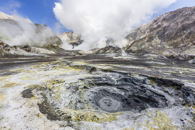 Boiling Mud at an Active Andesite Stratovolcano Photographic Print by Michael Nolan