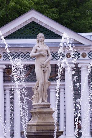 Eve Fountain, Peterhof Gardens in Summer, Petrodvorets, St. Petersburg, Russia, Europe Photographic Print by Peter Barritt
