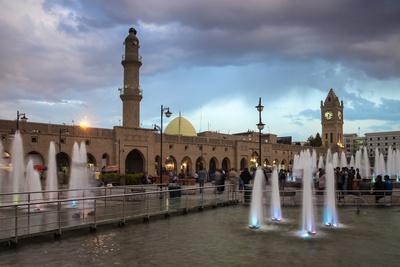 Shar Park, Clock Tower and Qaysari Bazaars, Erbil, Kurdistan, Iraq, Middle East Photographic Print by Jane Sweeney