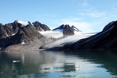 Glacier, Magdalenefjord, Svalbard. Nb Lack of Drift Ice Photographic Print by David Lomax