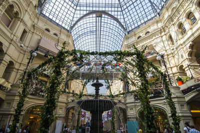 Inside Gum, the Largest Department Store in Moscow, Russia, Europe Photographic Print by Michael Runkel