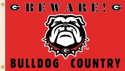 NCAA Georgia Bulldogs Country Flag with Grommets Flag