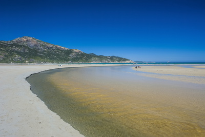 Tidal River Flows into the Ocean, Wilsons Promontory National Park, Victoria, Australia, Pacific Photographic Print by Michael Runkel