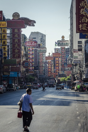 Yaowarat Road, Chinatown, Bangkok, Thailand, Southeast Asia, Asia Photographic Print by Andrew Taylor