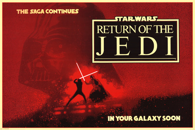 Star Wars: Return of the Jedi- The Saga Continues アートポスター
