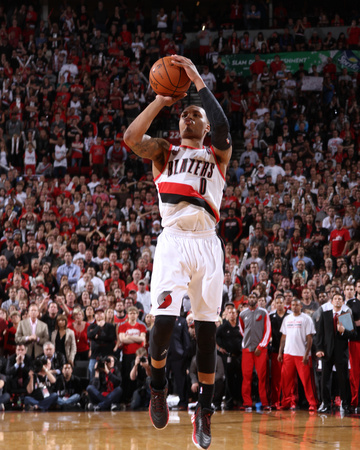 2014 NBA Playoffs Game 6: May 2, Houston Rockets vs Portland Trail Blazers - Damian Lillard Photo by Sam Forencich