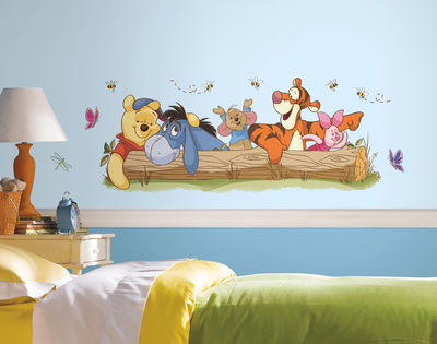 Winnie the Pooh - Outdoor Fun Peel and Stick Giant Wall Decals Wallstickers