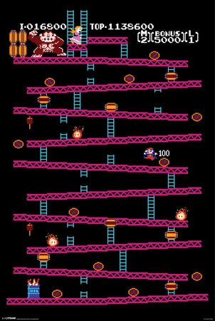 Donkey Kong - Level 1 Posters