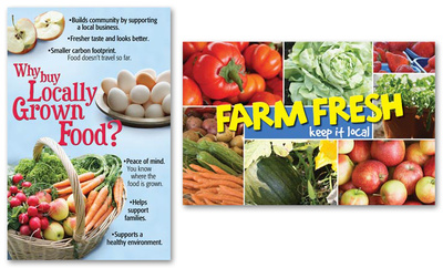 Locally Grown Foods Poster Set Posters