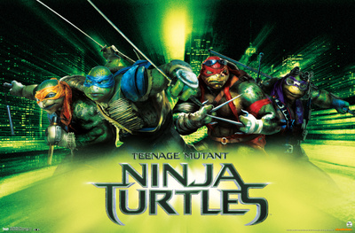 Teenage mutant ninja turtles superhero comic book poster